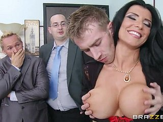 Danny D screws busty cloudy MILF Romi Spew in all directions a difficulty office